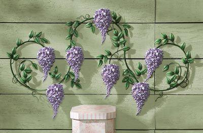 Wisteria Flower Purple Wall Decor
