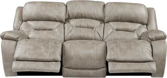Griffin Valley Taupe Triple Power Reclining Sofa Power Reclining