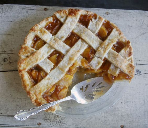 Brandied Peach Pie by Cake Hag http://www.cakehag.com/