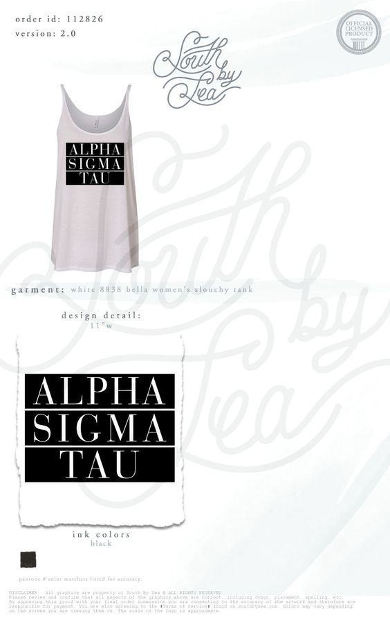 Alpha Sigma Tau | AST | Block Letter Design | Slouchy Tank | Contrast Letters | Bid Day | Recruitment | Sisterhood | South by Sea | Greek Tee Shirts | Greek Tank Tops | Custom Apparel Design | Custom Greek Apparel | Sorority Tee Shirts | Sorority Tanks | Sorority Shirt Designs