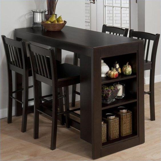 Jofran 5 Piece Counter Height Storage Dinette in Maryland Merlot in Home & Garden, Furniture, Dining Sets | eBay
