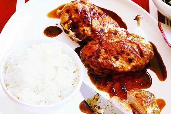 Chicken with Vietnamese caramel sauce - delicious.