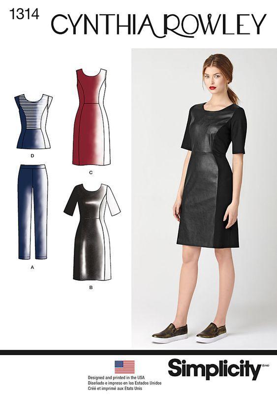 Resultado de imagen de simplicity patterns dress black