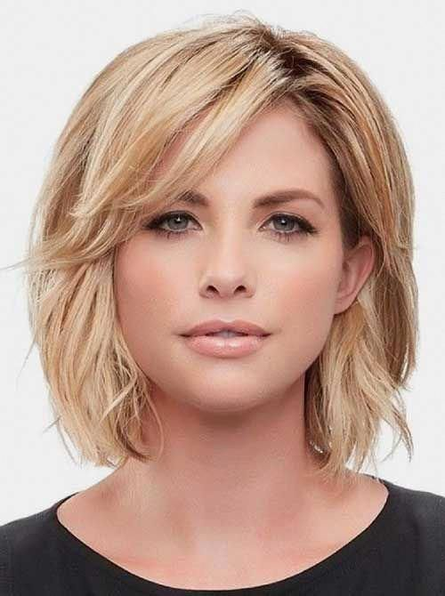 Short Hairstyles For Round Faces Best Short Hairstyle Ideas 2019 Curlybobhairstyles Shorthairstylesf In 2020 Medium Hair Styles Medium Length Hair Styles Hair Styles