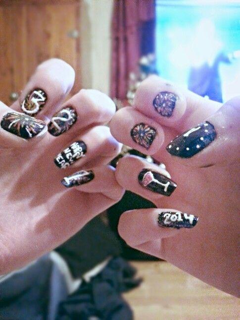 New Year nails