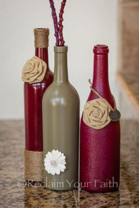 Enjoy fall with creative simple wine bottle crafts for Easy wine bottle crafts
