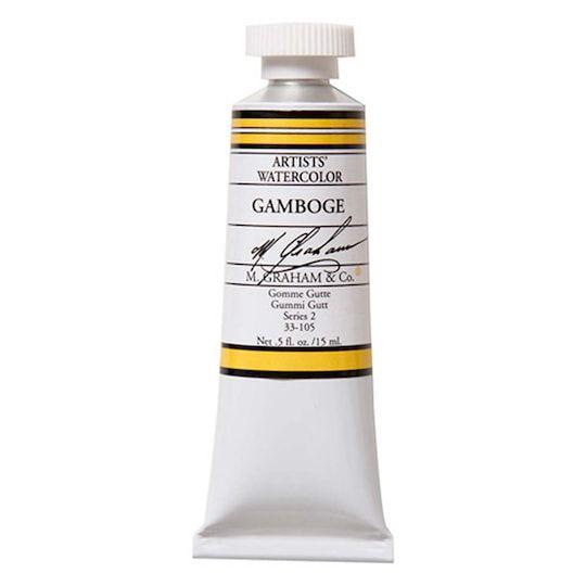 M Graham Co Artists Watercolor Paint 0 5 Oz In Gamboge