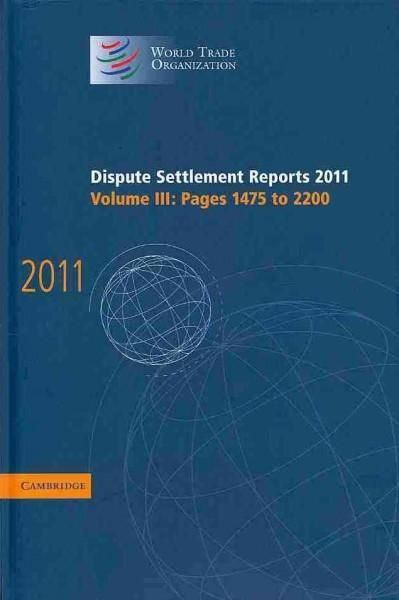 Dispute Settlement Reports 2011: Pages 1475 to 2200