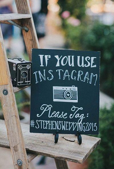 Social media als instagram op een bruiloft