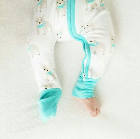El Perro Frenchie print with fold over cuffs