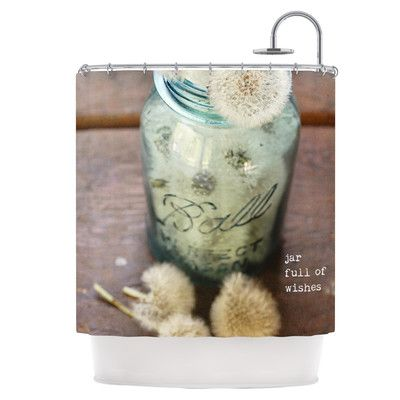 KESS InHouse Jar of Wishes Shower Curtain