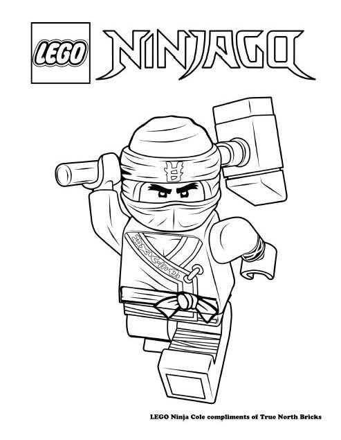 Coloring Page Ninja Cole True North Bricks Ninjago Coloring Pages Lego Coloring Pages Lego Coloring