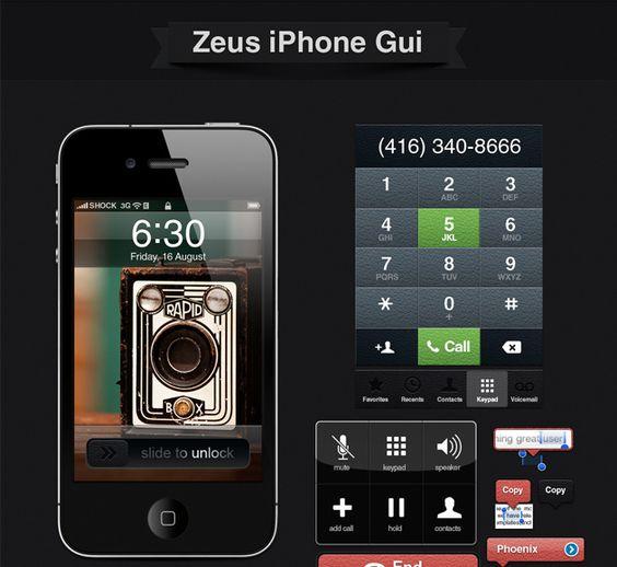 Zeus GUI: A full set of iphone GUI elements to create fantastic mobile apps. « Design Shock Design Shock