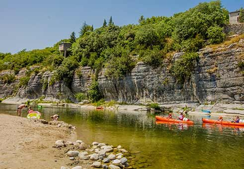 Camping Coudoulets Bord De Riviere Ardeche Camping Sud Camping