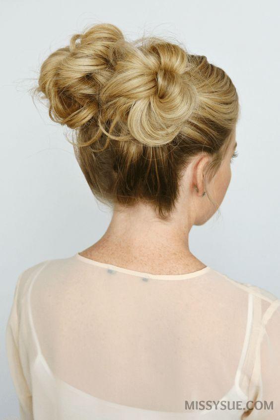 5 de Verano Mini Bun peinados //  #Mini #Peinados #verano