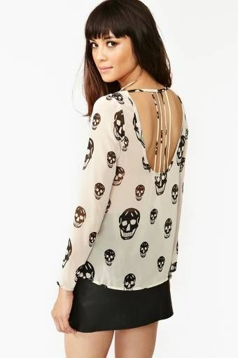 Boneyard skull Blouse