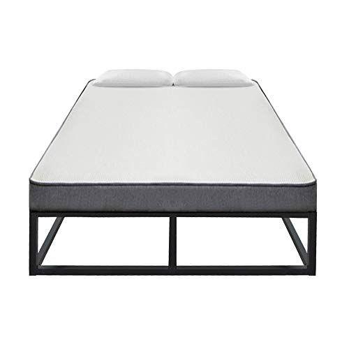 J Wassa Simple Basic Iron Bed Frame Black Strengthen Support