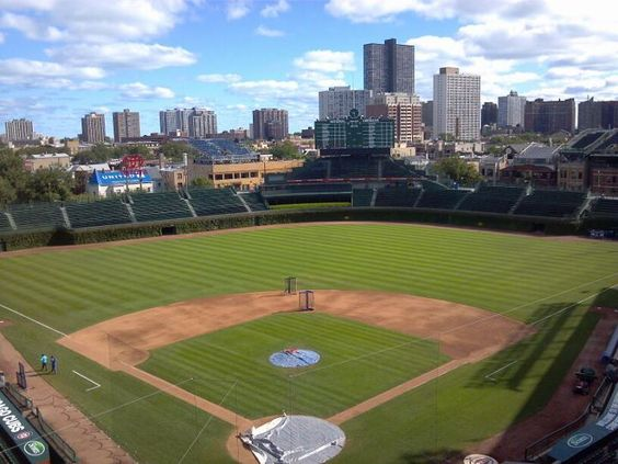 View from Wrigley press box sports Pinterest Boxes