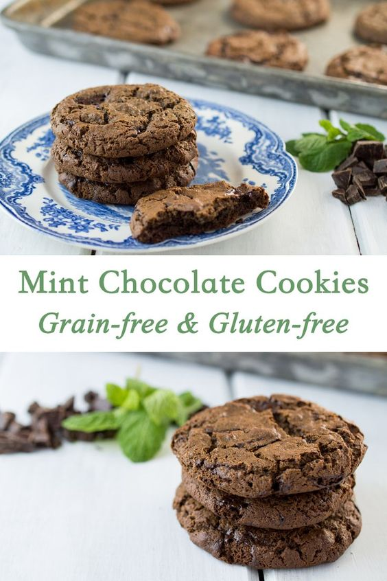 Grain Free Mint Chocolate Cookies | Recipe | Mint chocolate, Chocolate ...