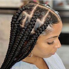 Jumbo Box Braids Tutorial East Diy To Save Your Money In 2020 Big Box Braids Hairstyles Braids Hairstyles Pictures Box Braids Hairstyles