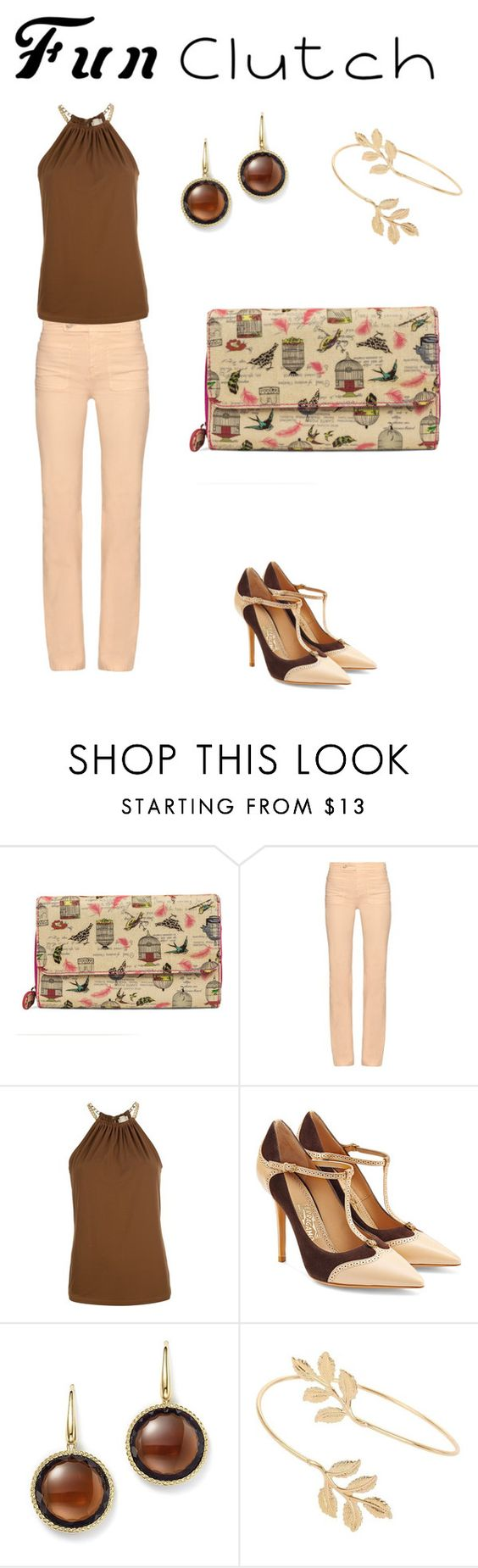 """""""Fun Clutch"""" by lawmouse ❤ liked on Polyvore featuring Mundi, See by Chloé, MICHAEL Michael Kors, Salvatore Ferragamo, Roberto Coin and Miss Selfridge"""