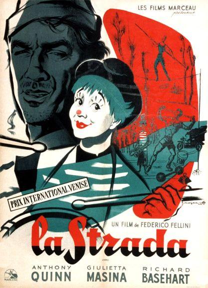 La Strada (1954) - Anthony Quinn, Giulietta Masina, Richard Basehart
