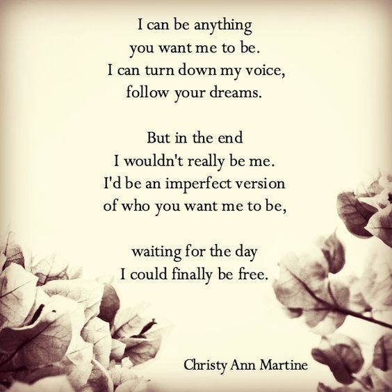 Be Yourself Poem Quote