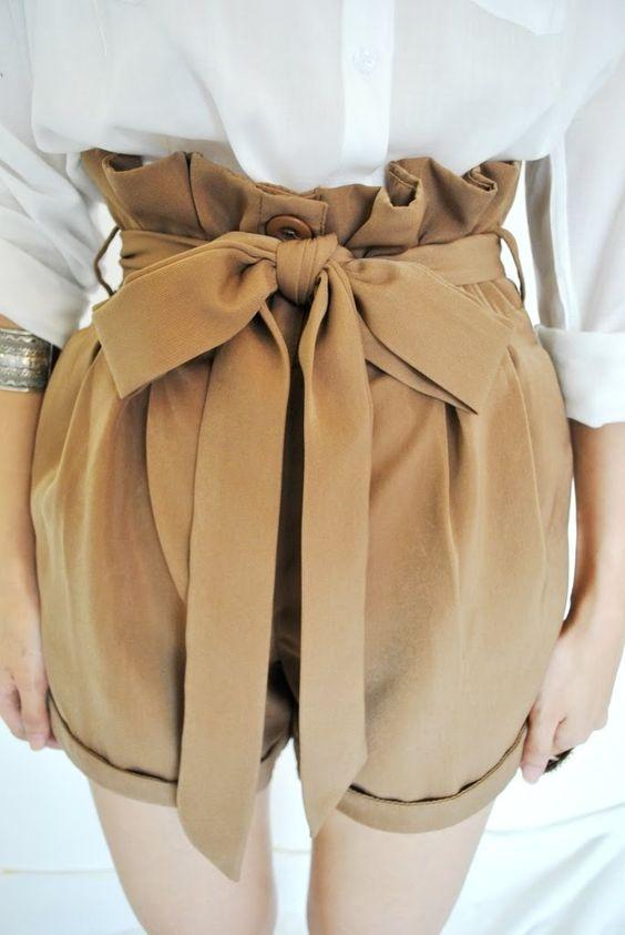 khaki high-waisted shorts   wardrobe please   Pinterest   Shorts ...