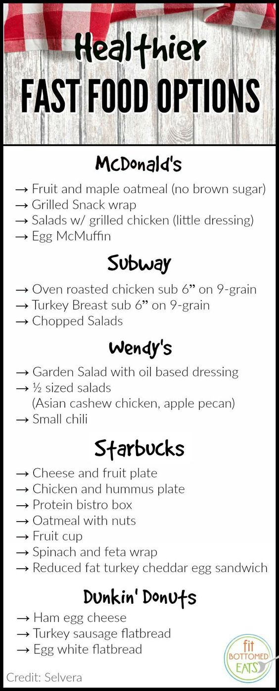 In a spot where the drive-thru is your only option? Try these better-for-you items.   Fit Bottomed Eats