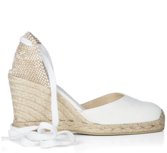 Wedge Espadrilles CARINA/8/CANVAS 600 & NATURAL Castañer   Bride