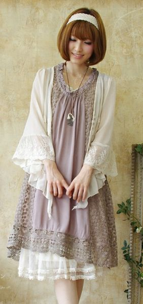 whimsy mori girl. i love the layering and this look would look fabulously feminine and flattering on curvacious women