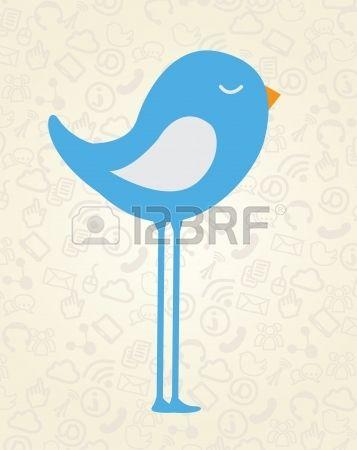 progettazione di uccello su sfondo vintage illustrazione vettoriale