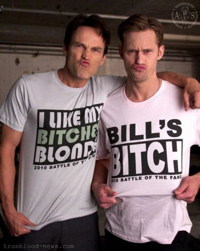 Freaking hilarious! Characters Bill Compton and Eric Northman from True blood :)