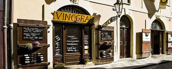 Vinograf - my favourite wine bar in Prague, tiny but sooo nice