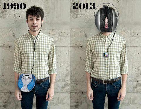 El tiempo pasa y nos vamos volviendo tecnos...