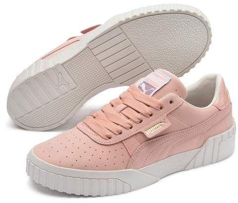 PUMA   Cali Nubuck Leather Sneaker