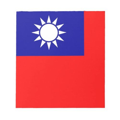 Notepad With Flag Of Taiwan Zazzle Com Taiwan Flag Custom Notepad Note Pad