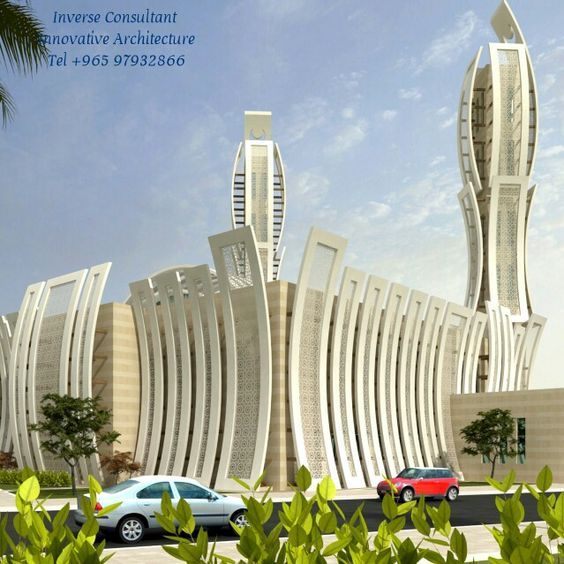 Mosque modern concept design by inverse architecture firm for New architecture firms
