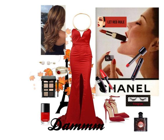 """Pretttty woman💋"" by eliyanakubelis on Polyvore featuring beauty, Chanel, Christian Louboutin, Bobbi Brown Cosmetics and Yves Saint Laurent"