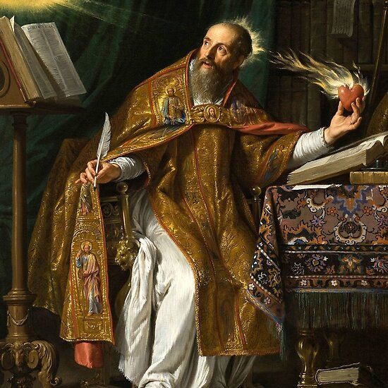 Portrait Of St Augustine By Philippe De Champaigne Portrait Augustine Of Hippo The Transfiguration