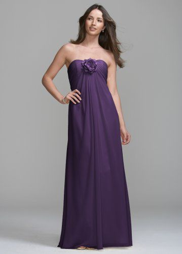 David's Bridal Bridesmaid Dresses Long Chiffon Dress with Removable Flower Detail Style VC307, Lapis, 2 David's Bridal,http://www.amazon.com/dp/B0050CASWI/ref=cm_sw_r_pi_dp_DUkyrb14TRBKZ6YA