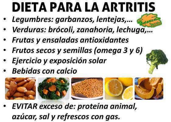 comidas saludables para personas con artritis