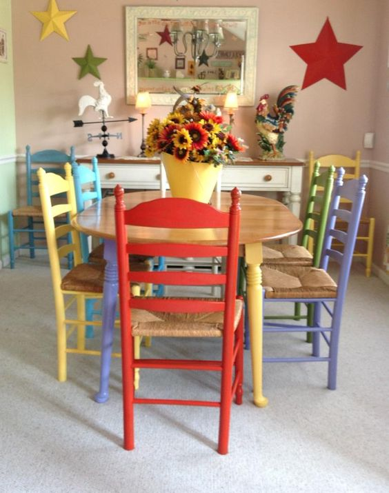 This is my cottage style table and chairs my hubby painted for me. Adorable!!