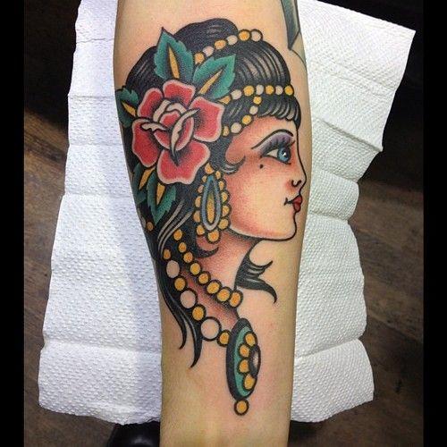 Mermaid tattoos tattoo mermaid and gypsy women on pinterest for Sailor jerry gypsy tattoo