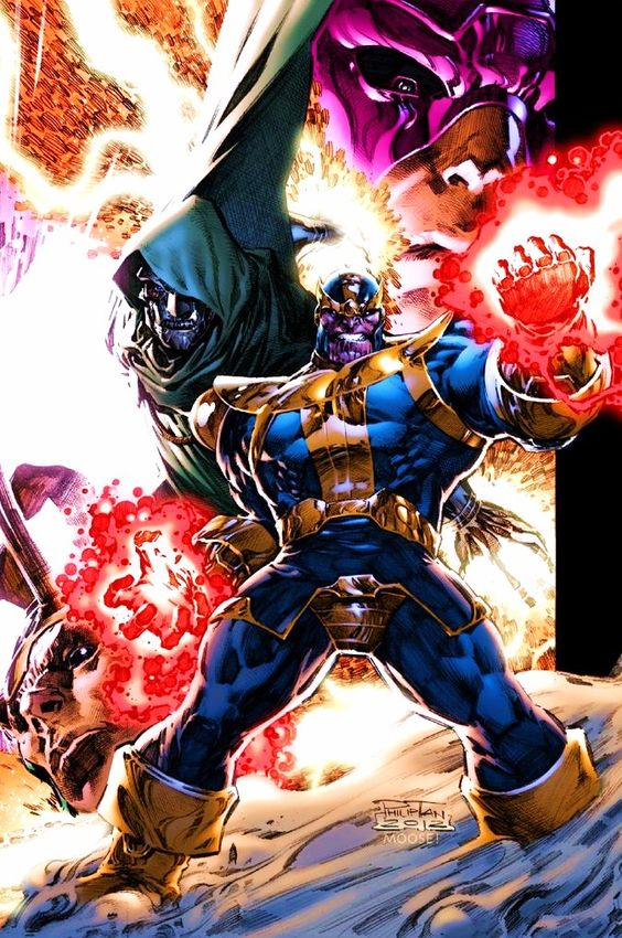 Thanos, Galactus, Dr Doom & Loki by Philip Tan! (Marvel comics)