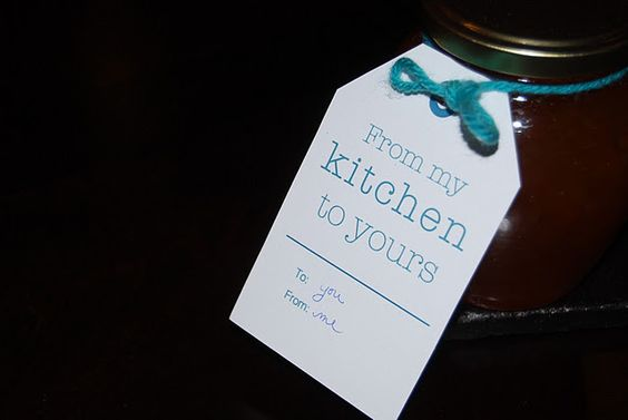 Tags for gifts from the kitchen