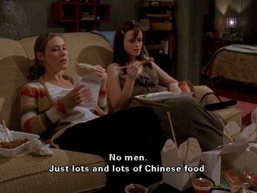 gilmore girls Chinese food: