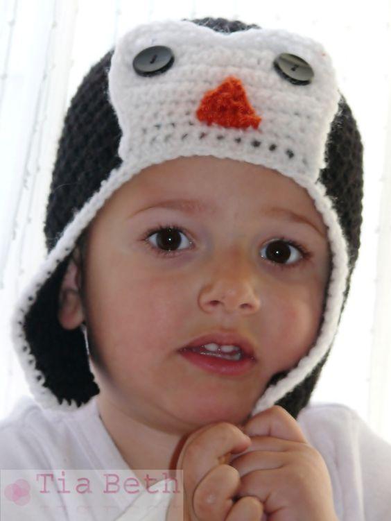 Gorro Pingüino / El rincón de Tia Beth - Artesanio