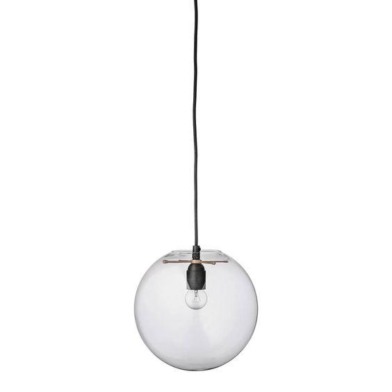 Bloomingville Hanglamp Glazen Bol Clear - Ø25 cm