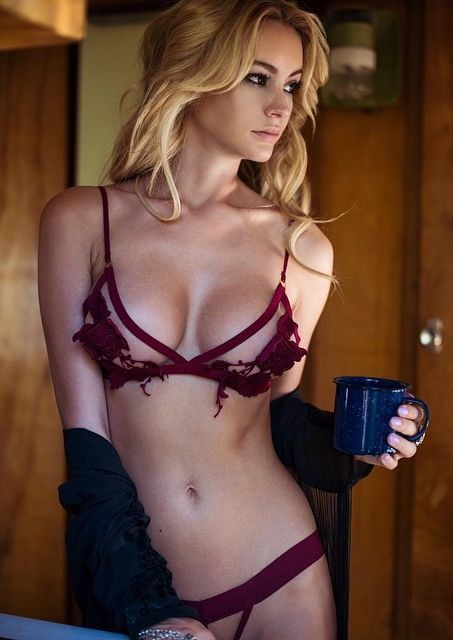 /morning coffee sexy